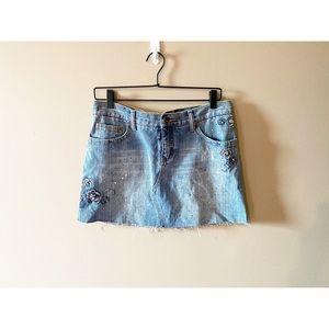 Revolt Denim Embellished Skirt